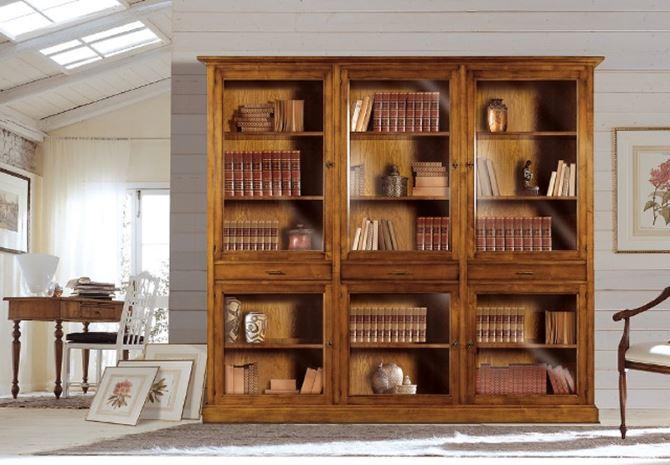 Книжный шкаф из массива от производителя - купи книжный шкаф.