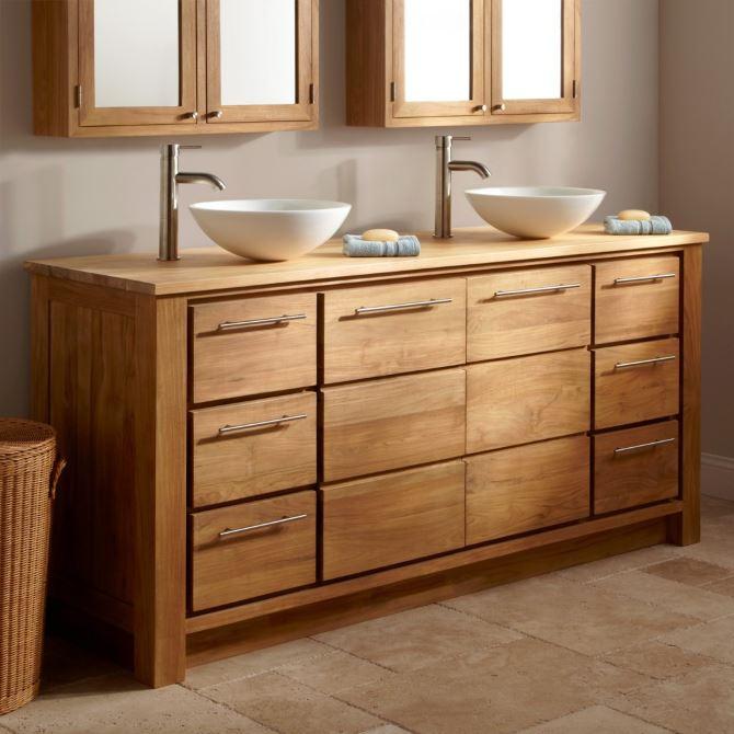 мебель из массива дерева для ванной комнаты купить на заказ москве